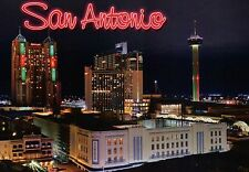 Downtown San Antonio Texas, Marriott Hotel, Tower of the Americas etc - Postcard