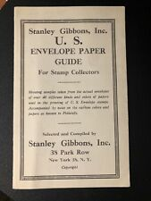 Stanley Gibbons, Inc U.S. Envelope Paper Guide for Stamp Collectors RARE