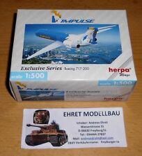 Boeing 717-200 impulsi 1:500 Herpa Wings 512626 collezione privata (3) NUOVO