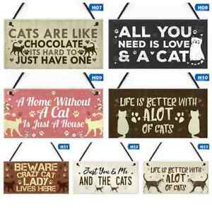 Cat Dog Lover Gift Wooden Hanging Quote Sign about cats Wood Home decor Plaque