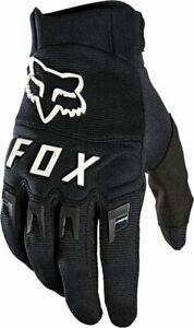 NEW Fox Racing Dirtpaw Gloves - Black/White Full Finger Men's Medium