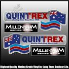QUINTREX - MILLENNIUM HULLS - Set of 4 Decals - BOAT DECALS