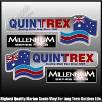 QUINTREX - MILLENNIUM HULLS - Set of 4 Decals - BOAT DECALS
