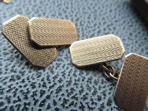 Vintage 9 ct gold cufflinks