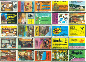 25 alte Gasthaus-Streichholzetiketten aus Deutschland #978