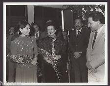 VINTAGE PRESS PHOTO / GOV. RAFAEL HERNANDEZ COLON / PUERTO RICO / 1980's / #1