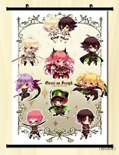 "8""*12"" Home Decor Japan Anime Owari no Seraph Wall Poster Scroll Cosplay E"