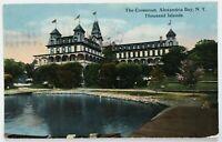 Postcard 1000 Thousand Islands NY Alexandria Bay The Crossmon Hotel 1910's 1916