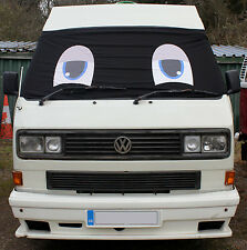 VW T25 Front Window Screen Cover Camper Van Black Out Blind Curtain Wrap Eyes