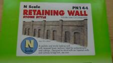 METCALFE CARD KIT.  RETAINING WALL, STONE STYLE. 'N' SCALE. PN144