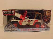 Jurassic Park Staff Jeep Wrangler Truck Die-cast Car 1:24 Jada Toys 7 inch World
