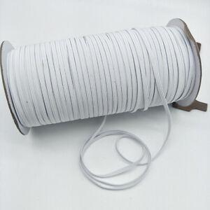 200 Yards weiß schwarz elastisch band seil gummiband ohr hängende seile handwerk
