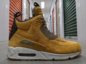 NEW Nike Air Max 90 SneakerBoot Wheat BUTTERY Suede WATERPROOF