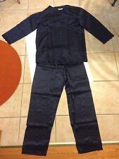 Women Lady Men Unisex 100% Silk Comfy Pajama Set Lingerie Sleepwear Nightwear