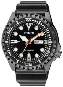 CITIZEN NH8385-11E Automatic Analog Day-Date Black IP Stainless Steel Mens Watch