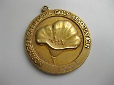 Vintage Sterling Silver NORTHERN CALIFORNIA GOLF Team Champion MEDAL Charm 1993