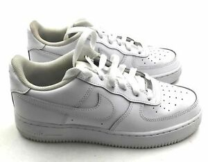 Nike Air Force 1 Children Casual Sneakers - Size: Grade School 6, White
