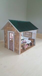 Miniature Dollhouse She-Shed Kit 1:12 Room box Birch Wood Diorama