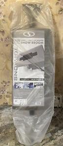 """Snow Joe 2-In-1 Telescoping Snow Broom + Ice Scraper 19"""" Foam Head Silver Gray"""