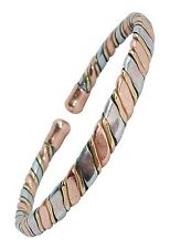 Mens or Womens Magnetic Therapy Bracelet 3 Colour Copper Bio Bangle Wristband M8