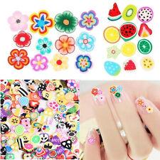 1000pcs Fruit Animals Mixed Theme Fimo Slice Clay DIY Nail Art Tips Decoration