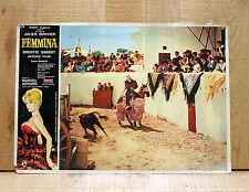 FEMMINA fotobusta poster Brigitte Bardot Vilar La femme et le pantin Corrida