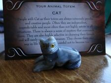 *CAT Laying* Carved Stone Figurine Totem (1) FREE Bonus LOOK Wiccan Pagan Gift