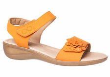 Hook and Loop Fasteners Flat (0 to 1/2 in.) Leather Sandals & Flip Flops for Women
