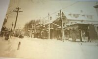 Rare Antique American Winter Main Street Storefront Real Photo Postcard! RPPC!