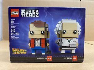 LEGO BrickHeadz - 41611 - Marty McFly & Doc Brown - NEW - SEALED - DAMAGED BOX