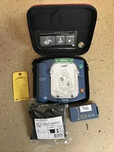 Philips Heartstart HS1 ONSITE AED with Case, BATTERY & SMART PADS M5066A
