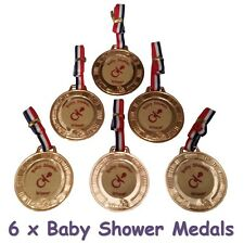 BABY Shower Party Game - 6 Baby Shower premi / OMAGGI-Medaglie-Gratis P&P