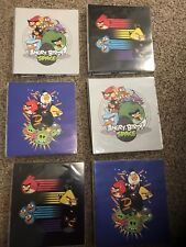 """LOT OF 6 - Angry Birds Mead 3-ring 1"""" Binders NEW"""