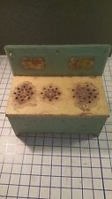 Ultra-Rare! Antique Metal Rustic Primitive Toy Play Stove Little Orphan Annie
