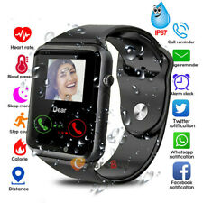 "1.54"" Bluetooth Smart Watch GSM Blood Pressure Heart Rate Monitor Waterproof USA"