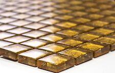 GOLD Translucent Mosaic tile GLASS WALL Bath & Kitchen Splashback -120-0782_b