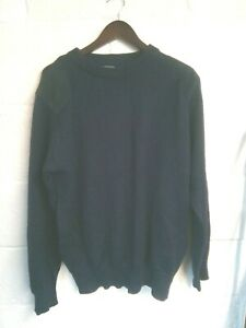 """Woolovers navy shooting style jumper L/44""""-46""""chest"""