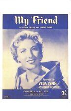Nostalgia Postcard Vera Lynn, My Friend Reproduction Card NS48
