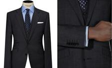 John Lewis Men's Grey Super 100s Wool Glen Check Jacket UK Size 38R BNWT RRP 140