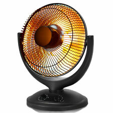Electric Parabolic Oscillating Dish Heater W/Timer Safety Shut-Off Home office