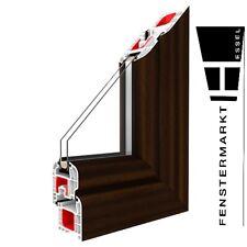 Festverglasung Fenster Mahagoni 1 flg. Fest Kunststofffenster PVC Festelement