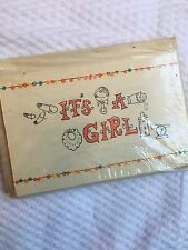 Package Of 12 Vintage It's A Girl Birth Announcements. Forget-me-not Brand