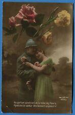 CPA Patriotique: Au parfum pénétrant de la reine des fleurs... / Guerre 14-18