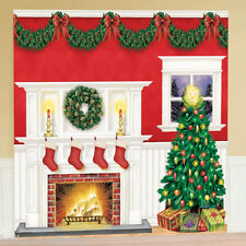 Classic Christmas Cosy Home Party Scene Setter Wall Decorating Kit