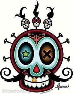 XO Sugar Skull Sticker Decal Chico Von Spoon CVS14