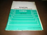 Workshop Manual Electrical Wiring Diagram Toyota Carina, 1982