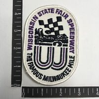 Vtg WISCONSIN STATE FAIR SPEEDWAY Milwaukee Mile Car Racing Auto Race Patch C06L