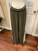 Dolan Left Coast Collection Anthropologie Green Wide Leg Pants, Size M, NWT!