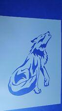 Schablonen 479 Wolf Mylarfolie Shabby Wandtattoos Wandbilder Airbrush Stencil