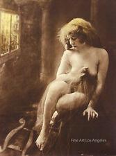 Charles Gilhousen Photo, Untitled Figure, Window Light, Art Nouveau, 1919